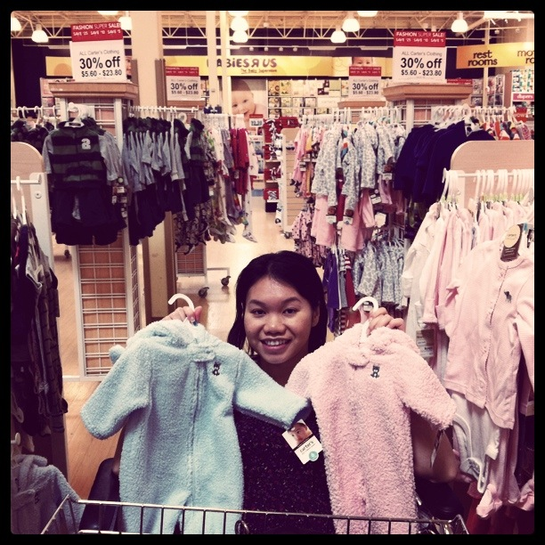 Shopping at Babies R Us