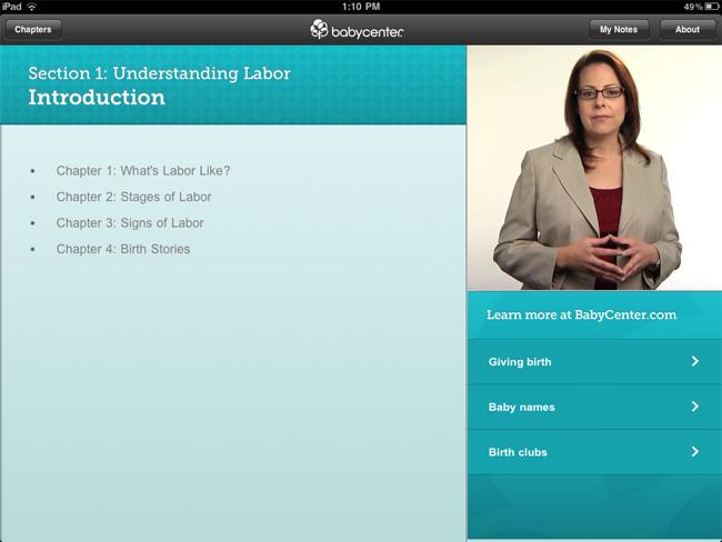 Babycenter Birth Class iPad App