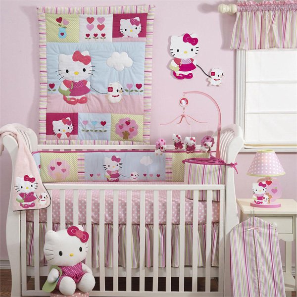 Hello Kitty and Pup Bedding