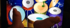 Baby Plays the Drums on iPad!
