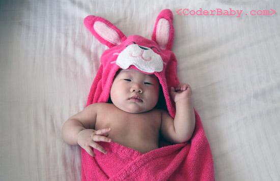 Carter's Bunny Swim Towel