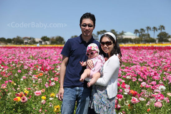 Family At The Flower Fields
