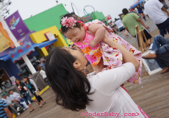 Mommy & Baby at the Santa Monica Pier