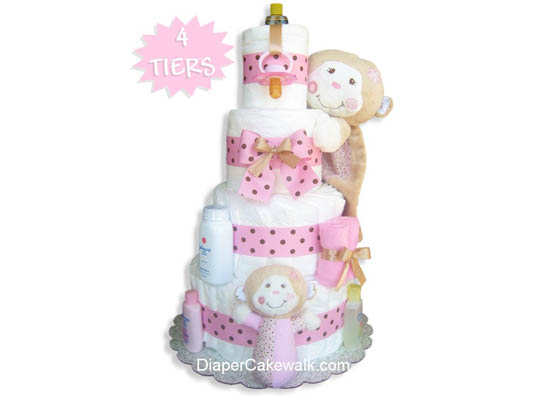Silly Monkey Diaper Cake