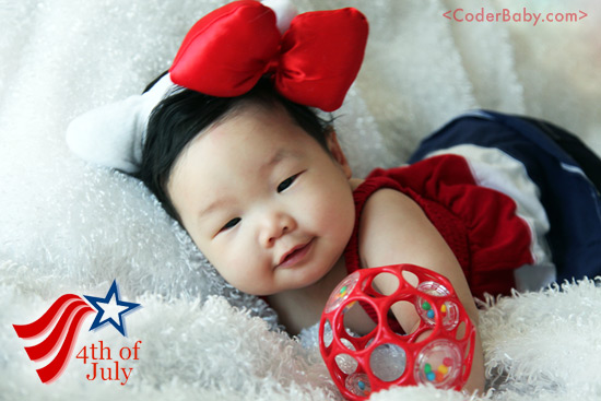 Coderbaby's First 4th of July!