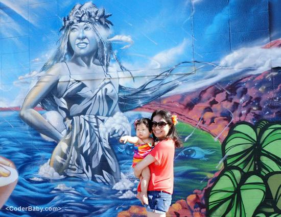Poliahu Mural in Oahu, HI