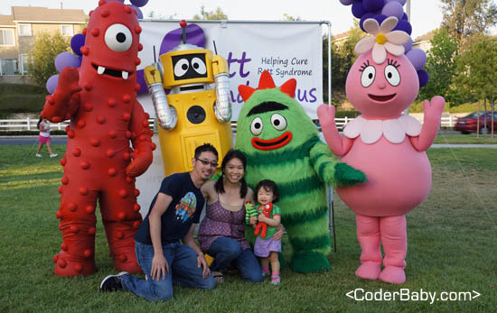 Meeting Yo Gabba Gabba