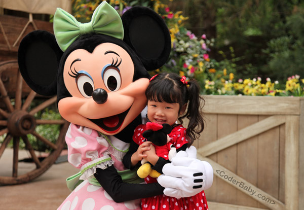 Disneyland with Minnie Mouse